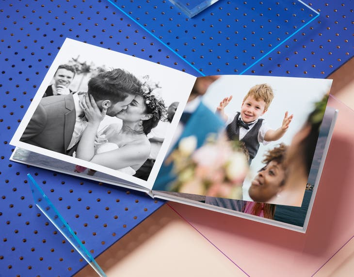 Square Lay Flat Silver Halide Photo Book
