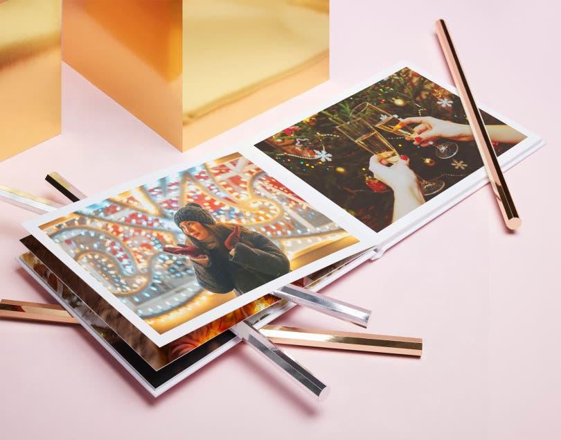 Fotolibro piatto con copertina rigida premium A4 e A3
