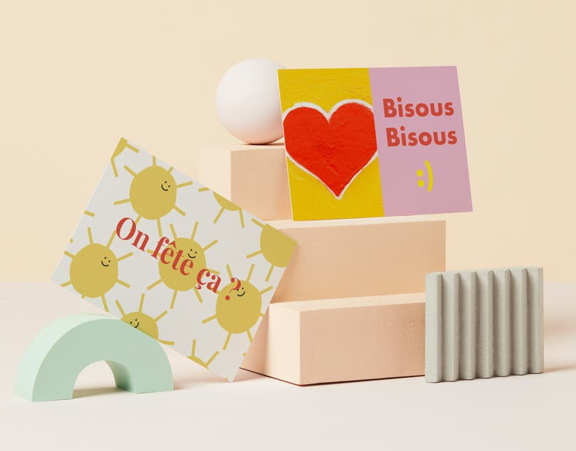 Rectangle Flat Cards