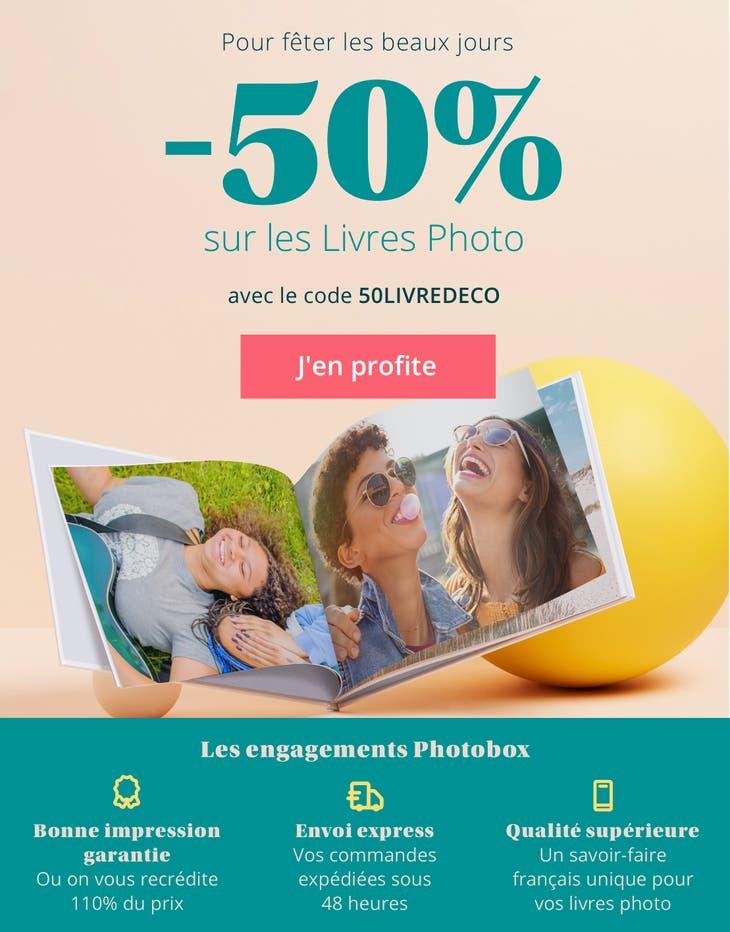 -50% sur les Livres Photo