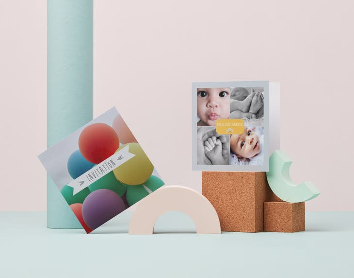 Square Folded Cards