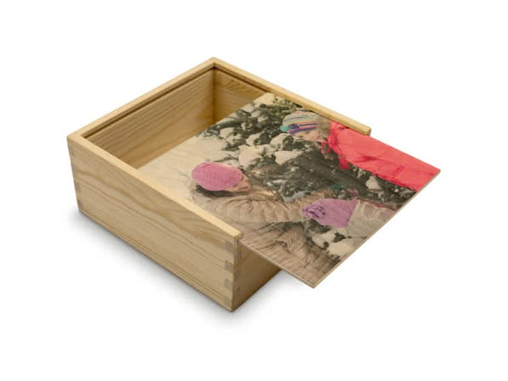 Cadeau de Noël pour votre Maman - Boîte Cadeau Personnalisée en Bois - Portraits de profil