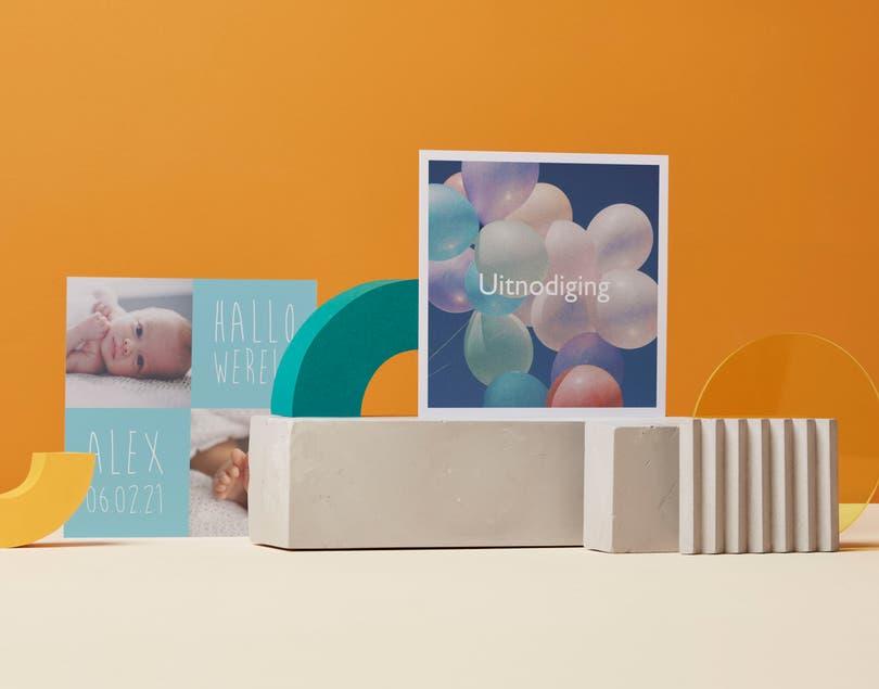 Vierkante platte fotokaarten