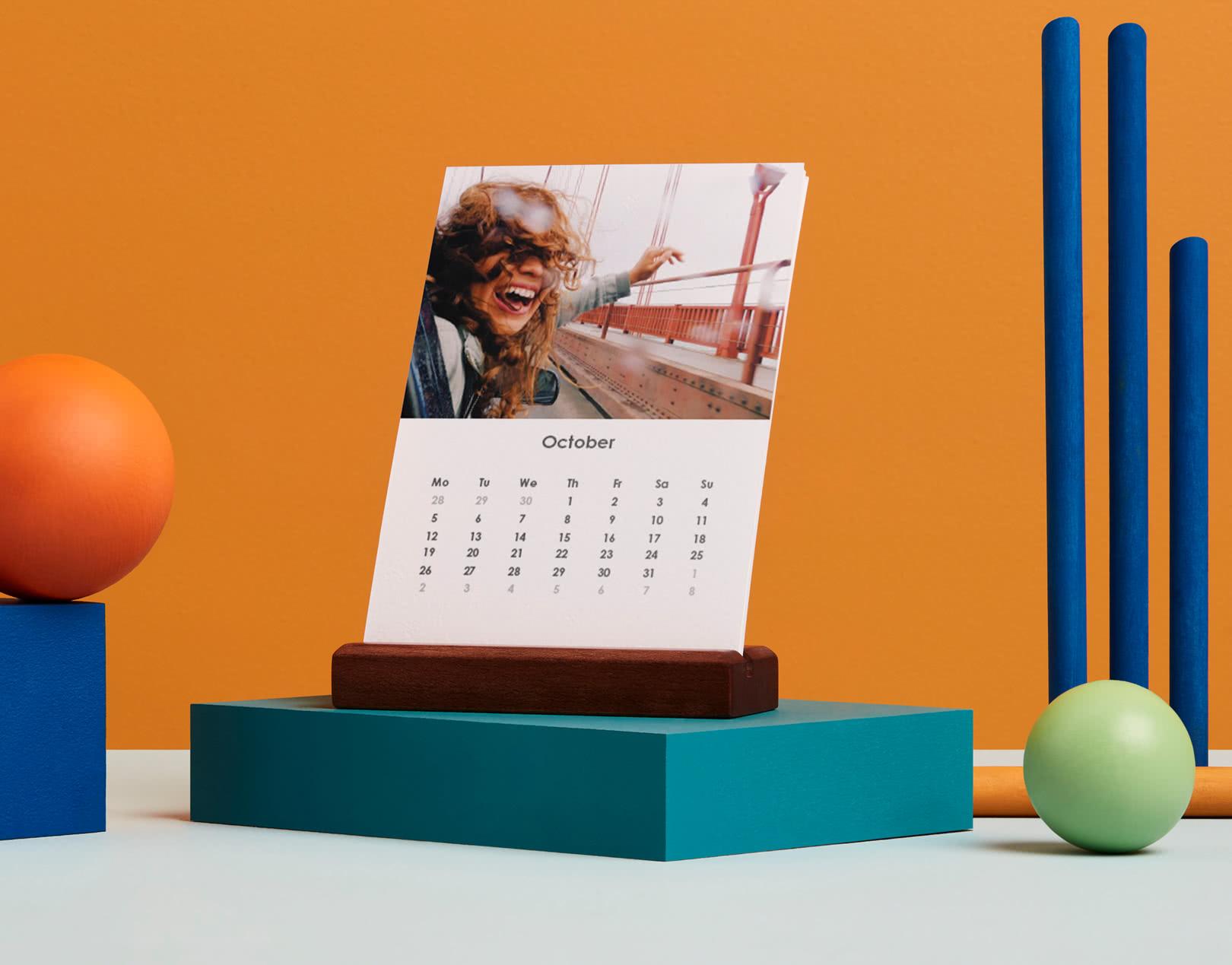 Easel Desk Calendar - Portrait