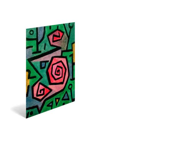 Heroic Roses by Paul Klee - Poster