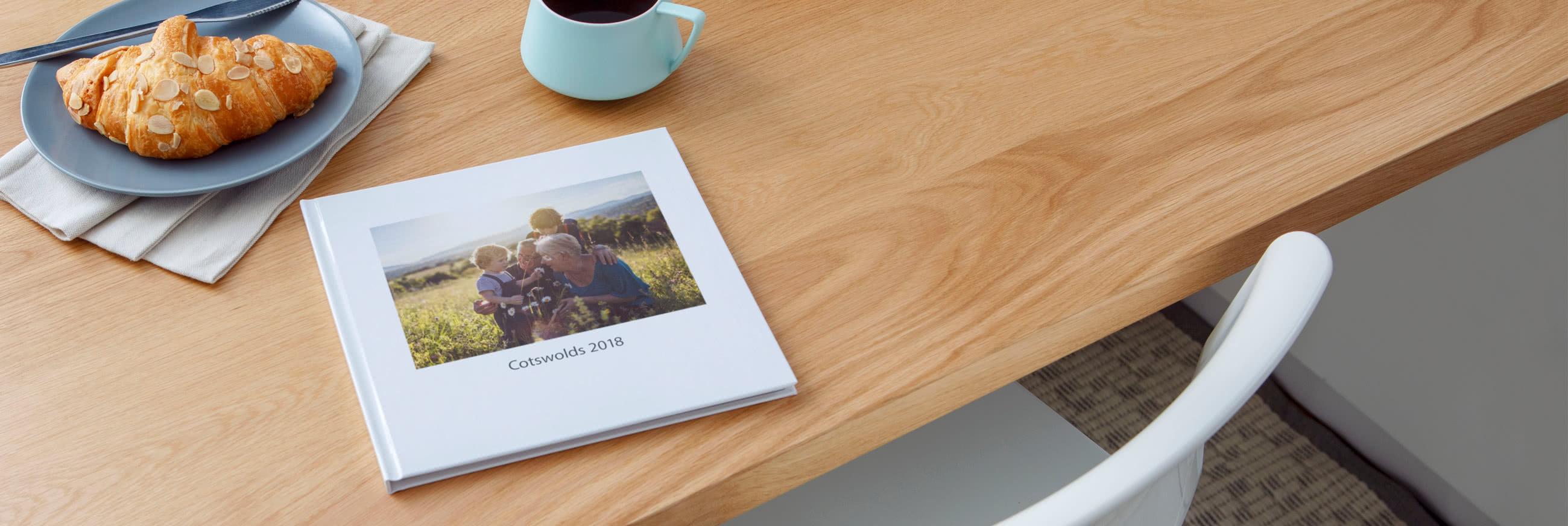 Quadratische Premium-Fotobücher mit Hardcover Pro Layflat