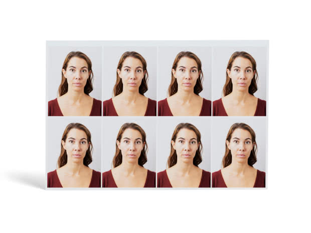 Passport Photos of a woman