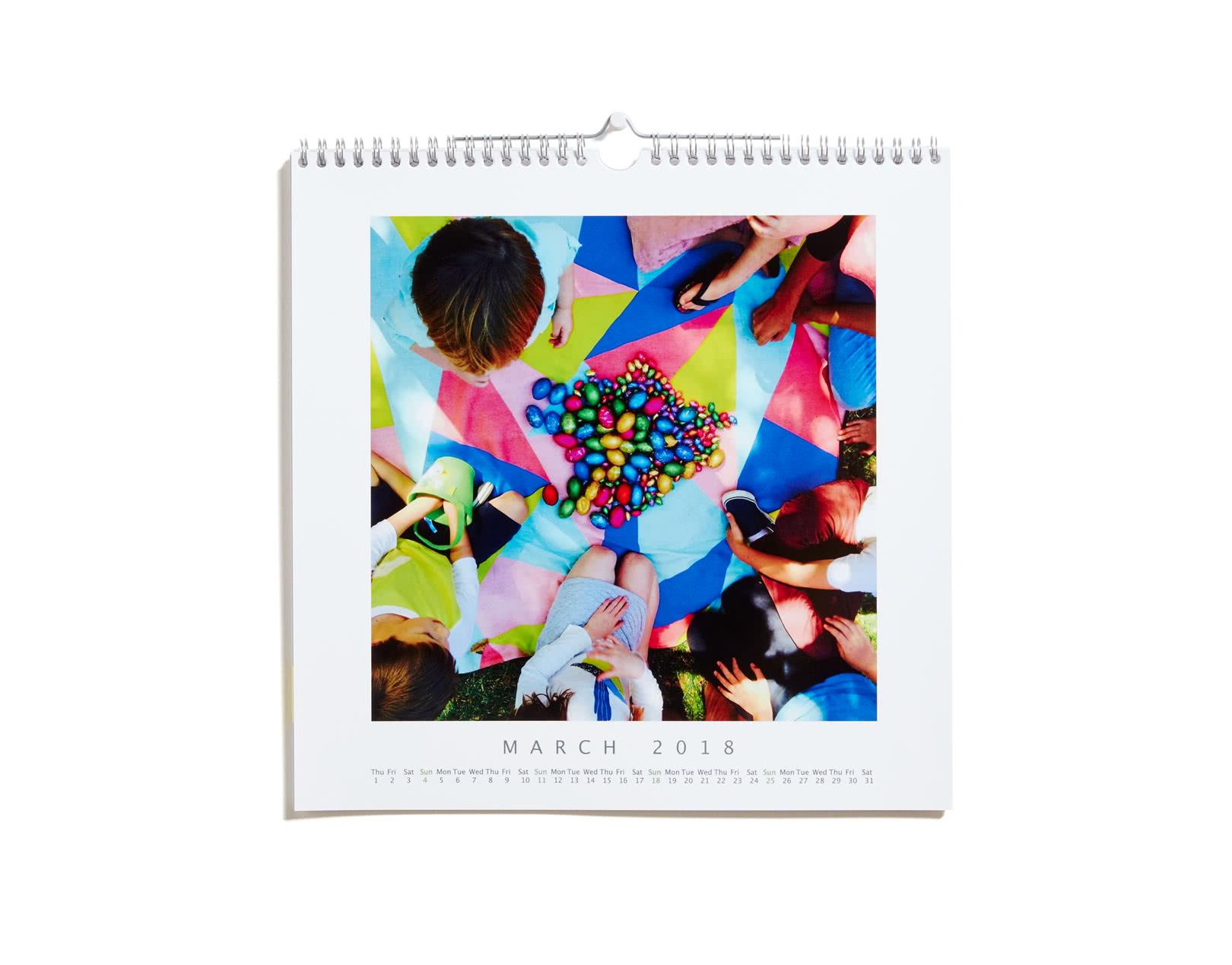 square calendar photobox