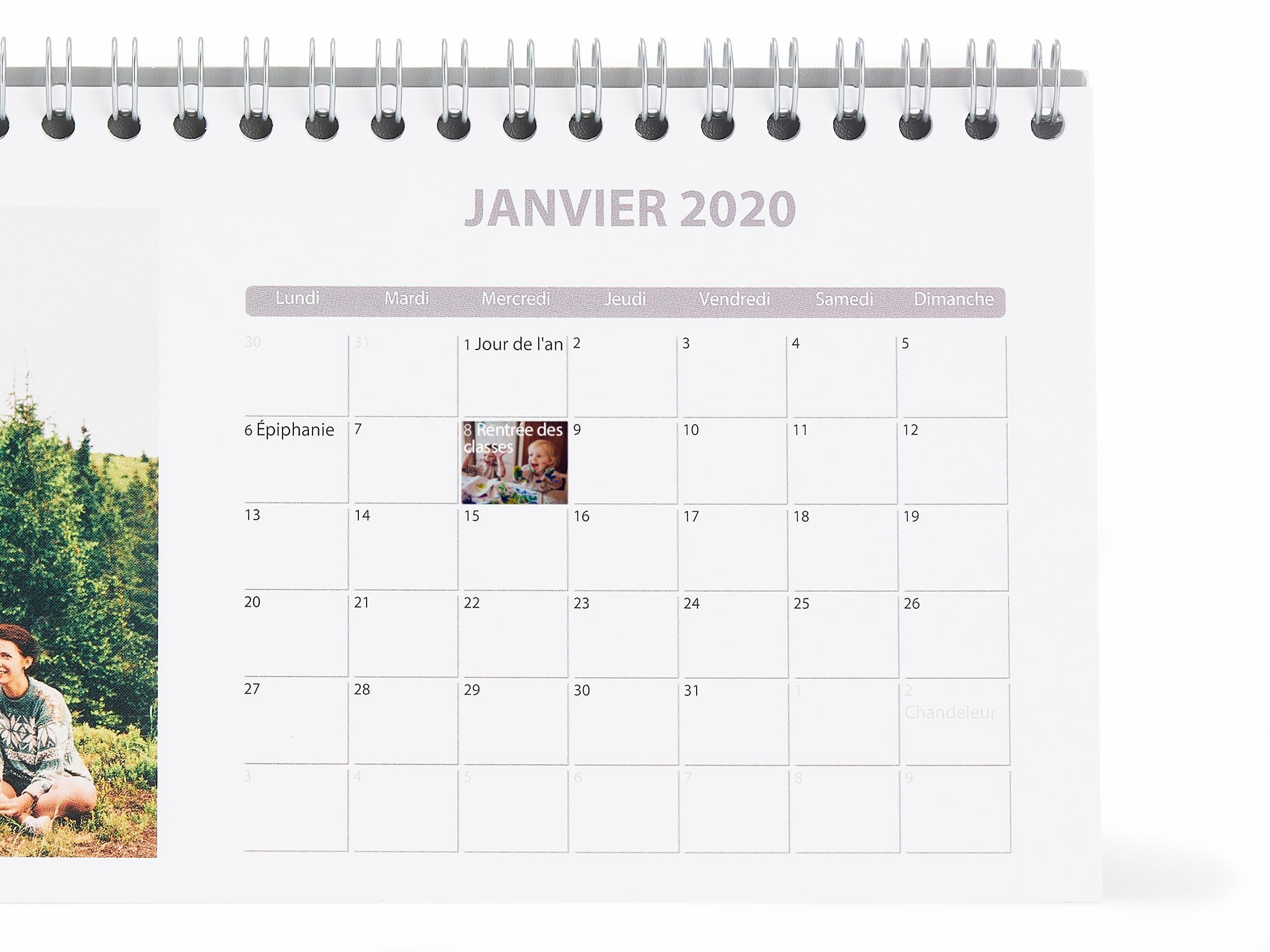 Calendrier Perpetuel Personnalise 365 Jours.Calendrier Photo A Imprimer Agenda Personnalise Photobox