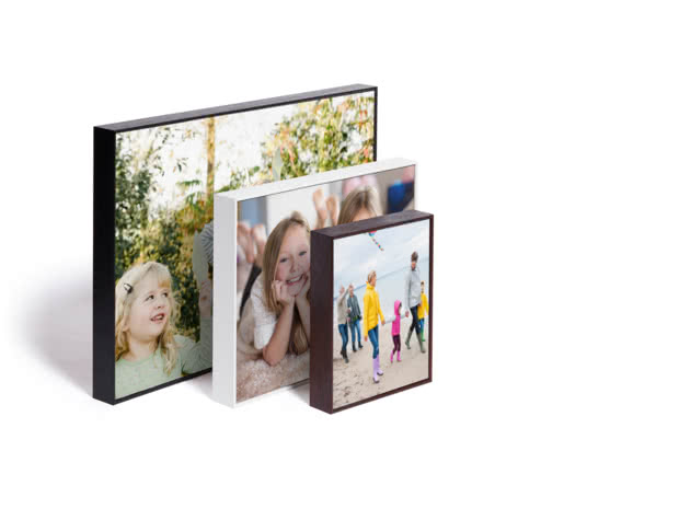 Personalised Printed Acrylic Photo Block Picture Frame Display Stand Gift