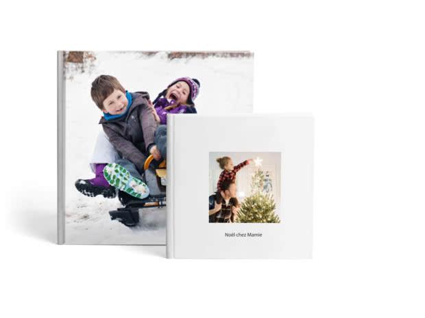 Livres photo premium rigides format carré