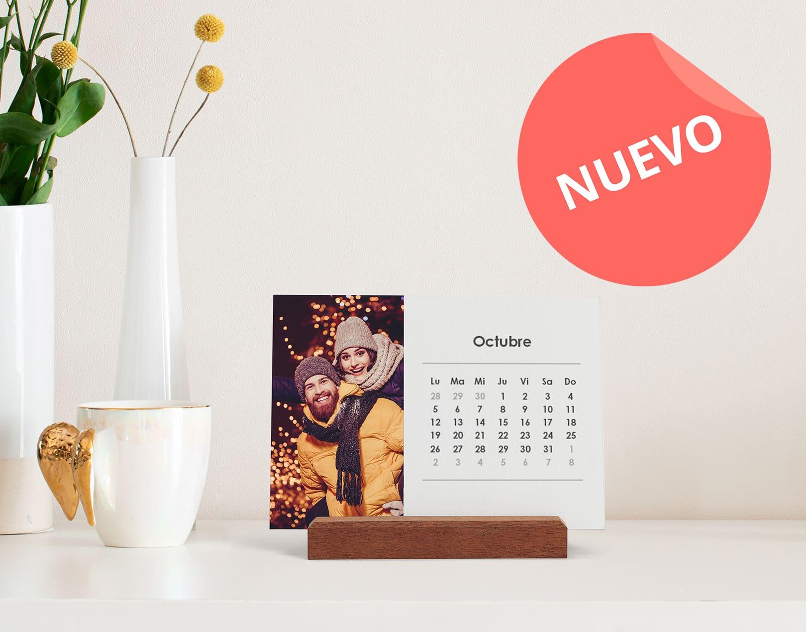 Calendario de Escritorio de Madera Apaisado