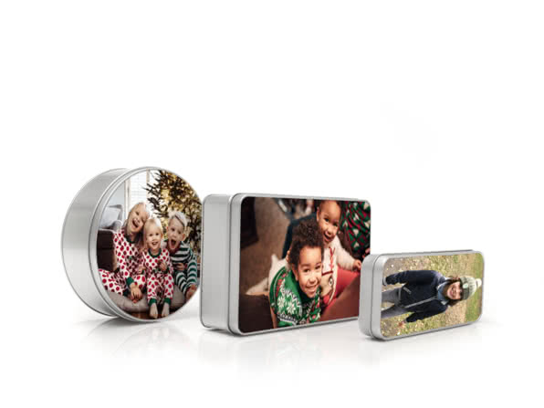 Christmas Gift Ideas for Girlfriend - personalised tin - A Gift Every Hour