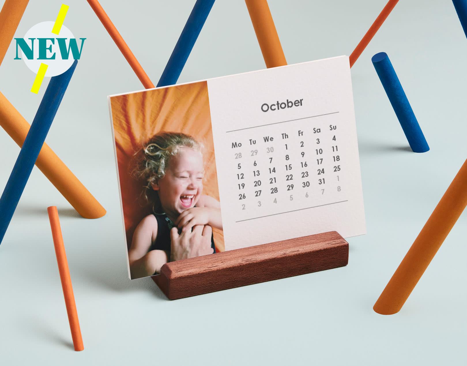 Easel Desk Calendar - Landscape