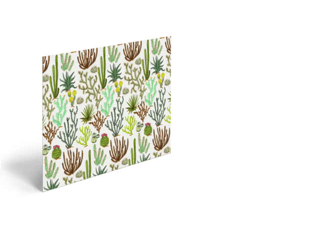 Cacti Pattern by Jacqueline Colley - Poster