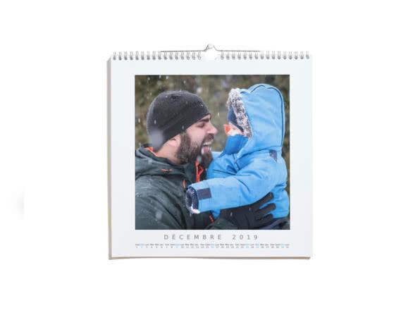 Cadeaux de Noël pour votre Papa - Calendrier Photo Luxe Carré  - Ce que j'aime chez toi