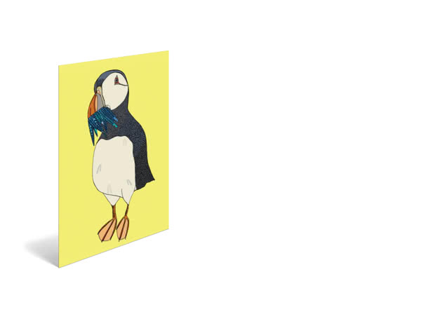 Peter Puffin by Amber Elise - Poster