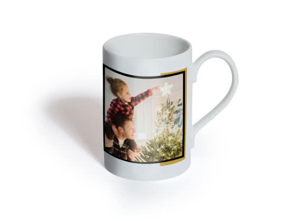 Themed Porcelain Mug personalised with a photo