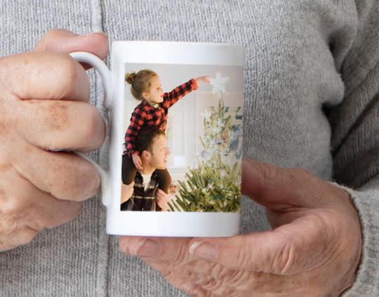 Porcelain Mug personalised with a photo