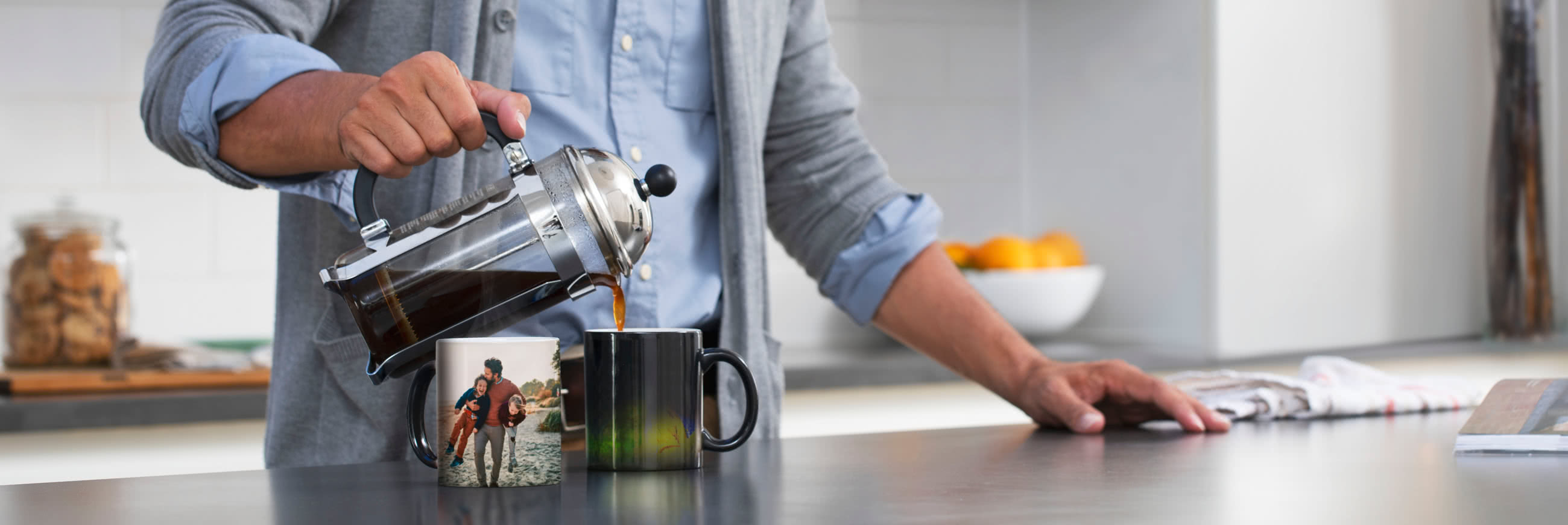 Mugs magiques changeant de couleur