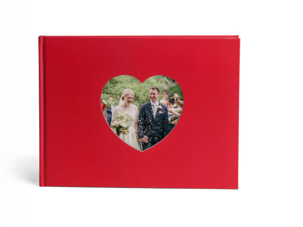 A4 Love Book heart shaped couple photo on the cover