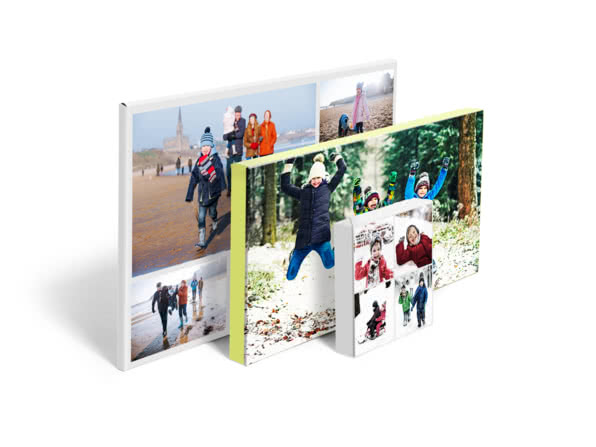 Christmas gift ideas for friends - collage canvas - motley bunch