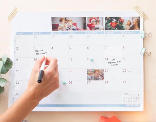 Calendrier Planning pour la famille