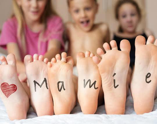 Cadeaux de Noël pour Mamie - Le cœur sur les souliers