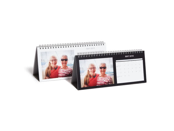Black and White Desk Calendar
