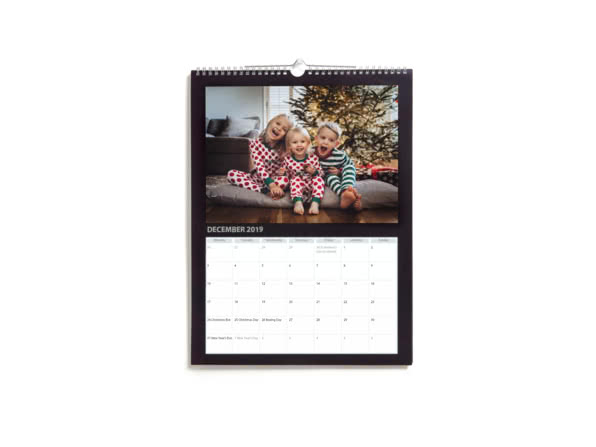 Christmas Gift Ideas for Girlfriend - personalised wall calendar - Reasons I Love You