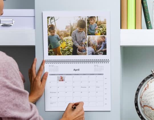 Calendario doble en A3