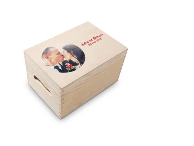 Boîte à Souvenirs Personnalisable en Bois