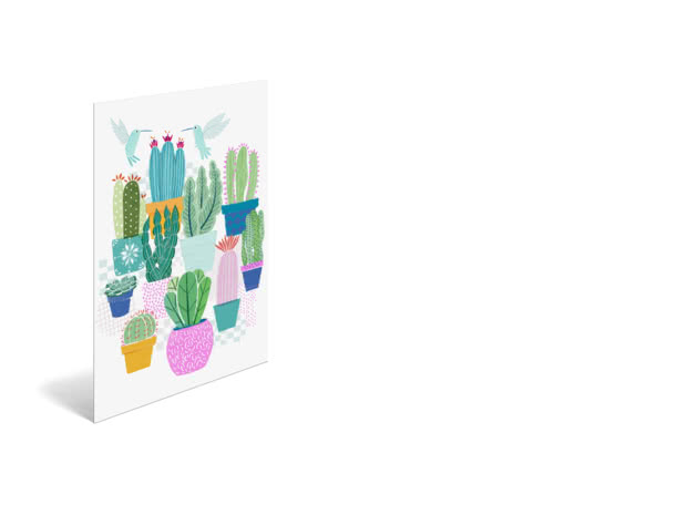Cactus Love by Lucy Banji - Poster