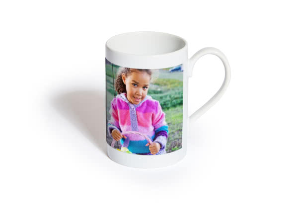 Porcelain Mug personalised with a photo