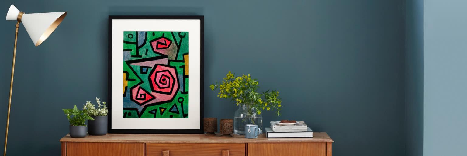 Heroic Roses by Paul Klee