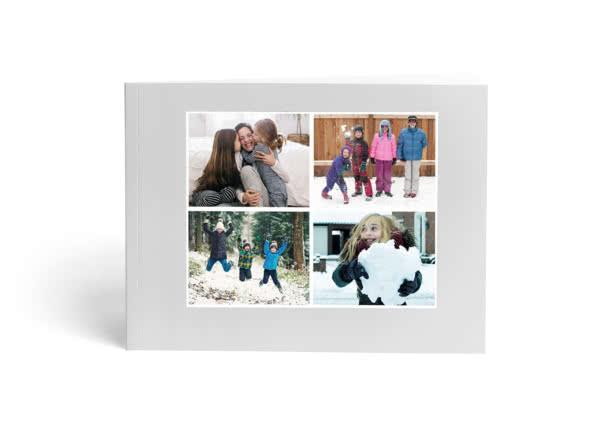 Un Livre Photo Compact A5 avec en couverture des enfants qui jouent dans une rivière