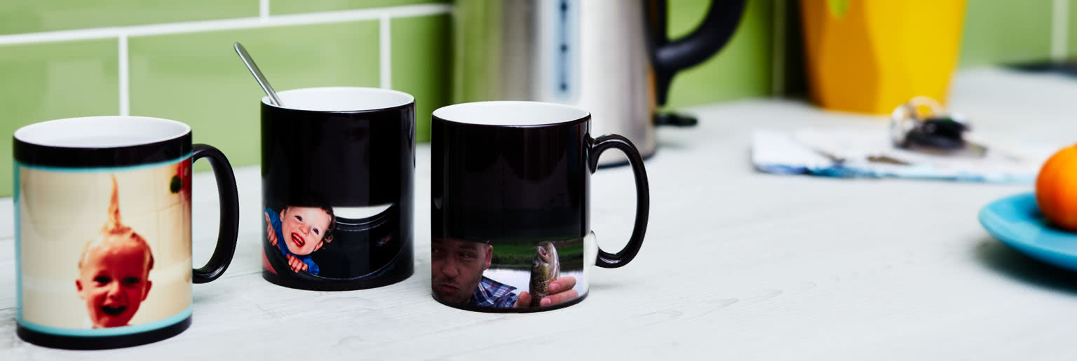Personalised colour changing mugs