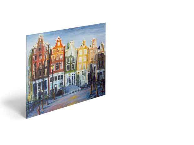 Houses of Amsterdam by Antonia Myatt - Poster