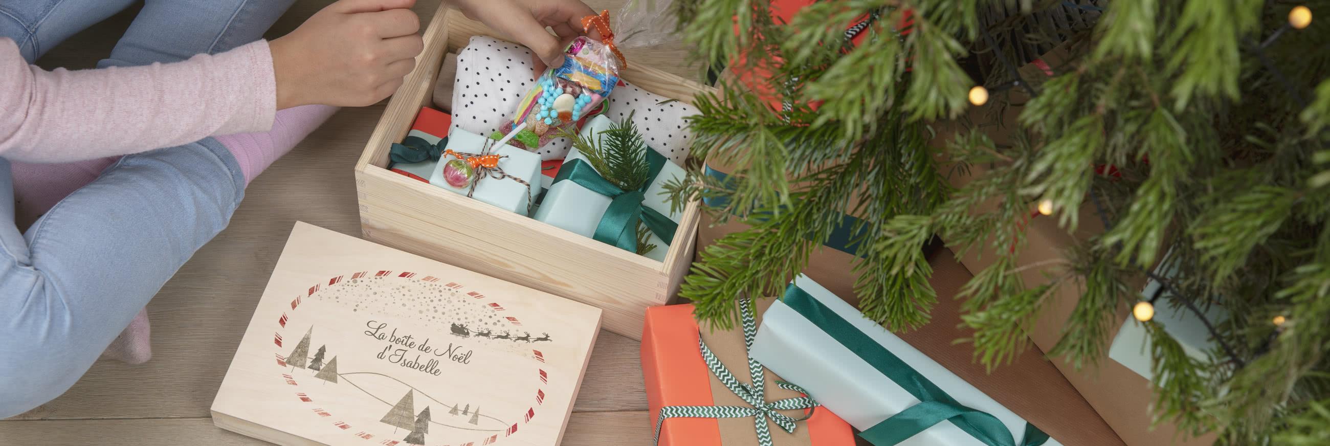 Boîte Cadeau de Noël Personnalisée
