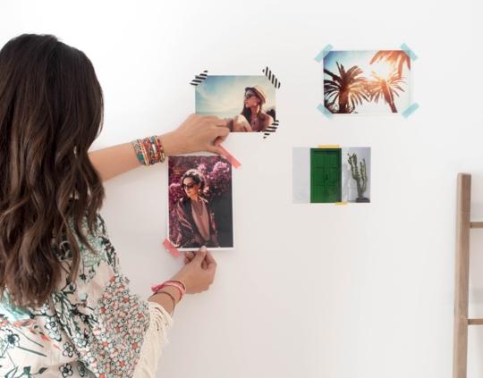 Imprime tus fotos favoritas y piensa en tu decoración