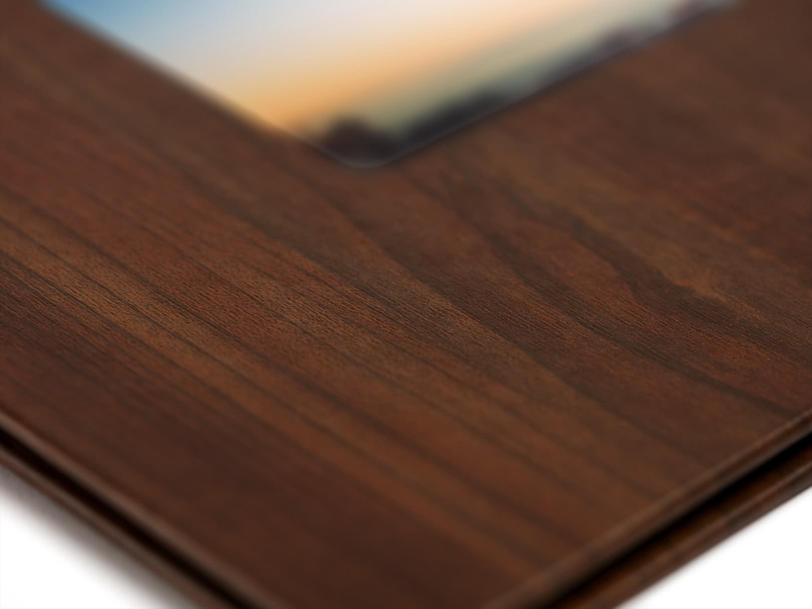 Livre photo luxe couverture avec fenêtre photobox