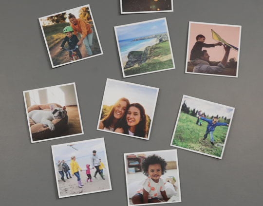 Personalised Any 4 of Your Photos Collage Style Family Photo Print