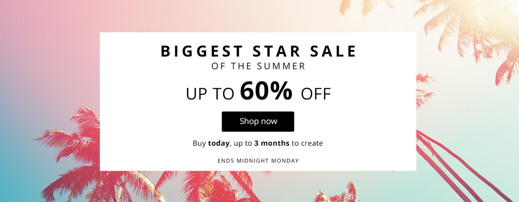 Star Sale - Up to 60% off