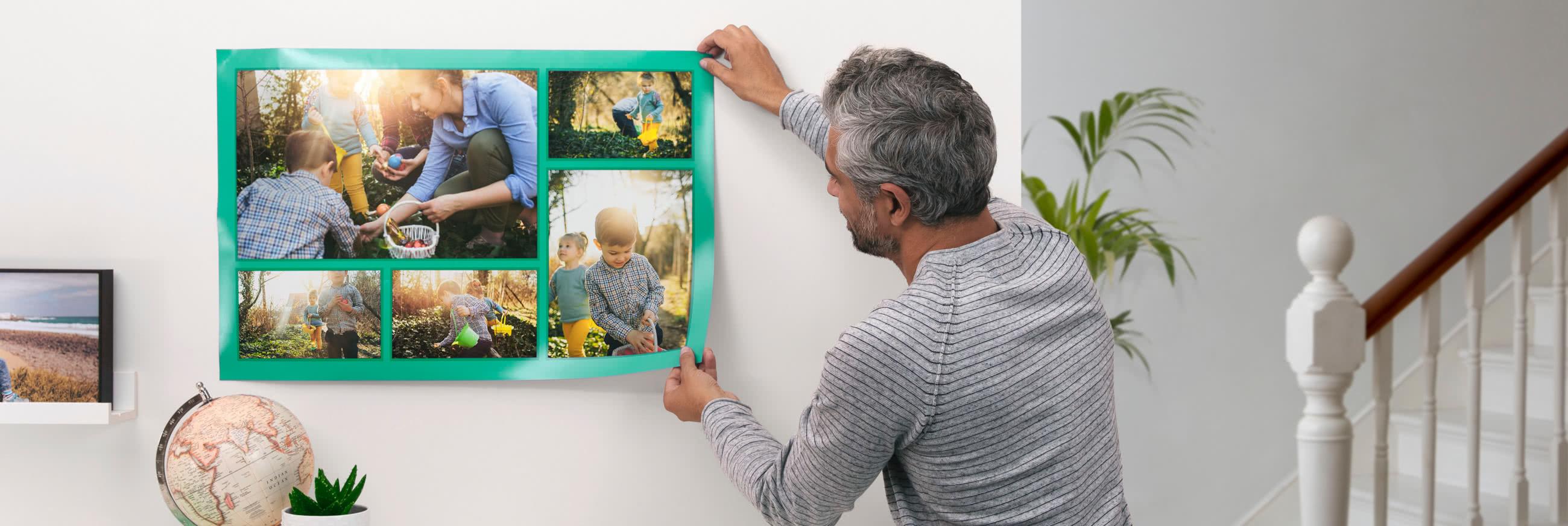 Fabriquer Un Pele Mele poster photo pêle-mêle | idée cadeau photo | photobox