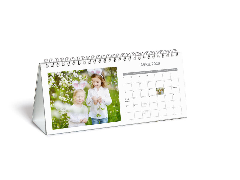 Calendrier Photo De Bureau 2021 Chevalet Photobox