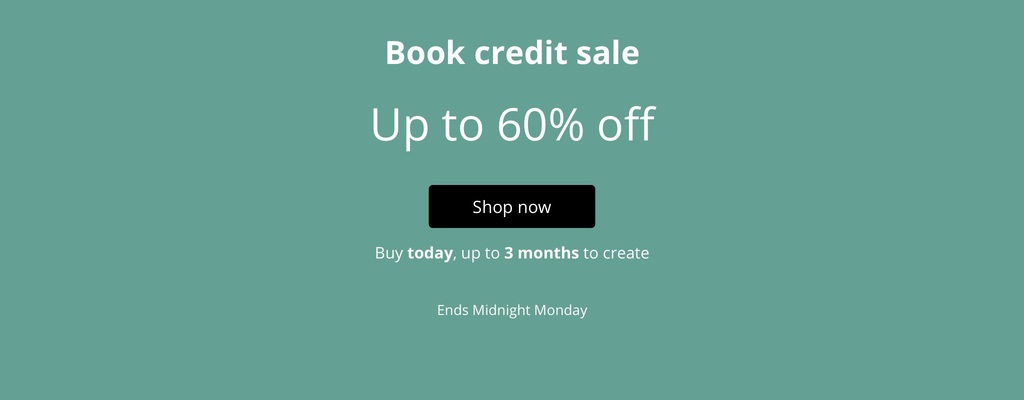 Up to 60% off Book Credits