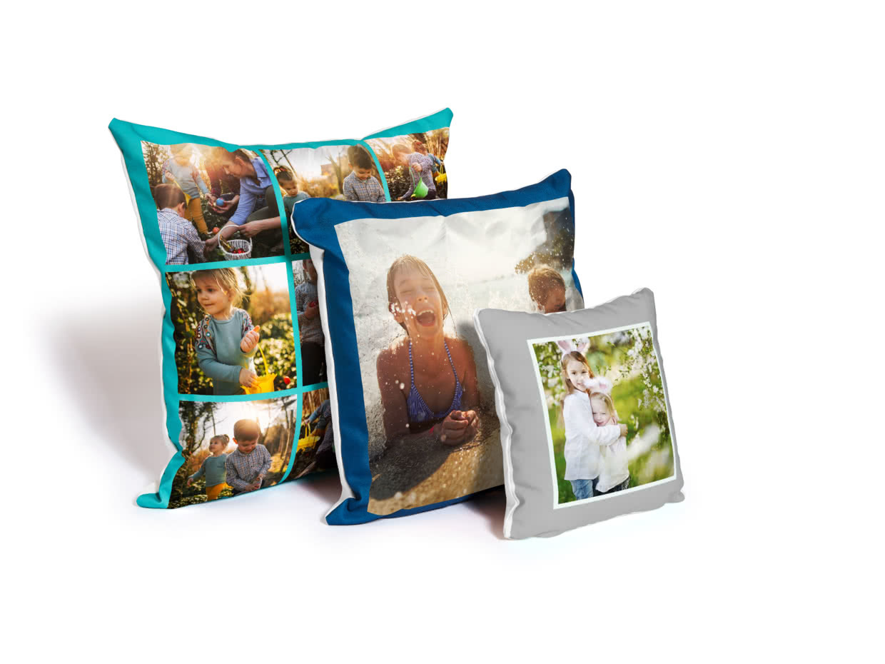 Personalised Photo Pillowcase Cushion Pillow Case Cover Custom Doubl//Single Side