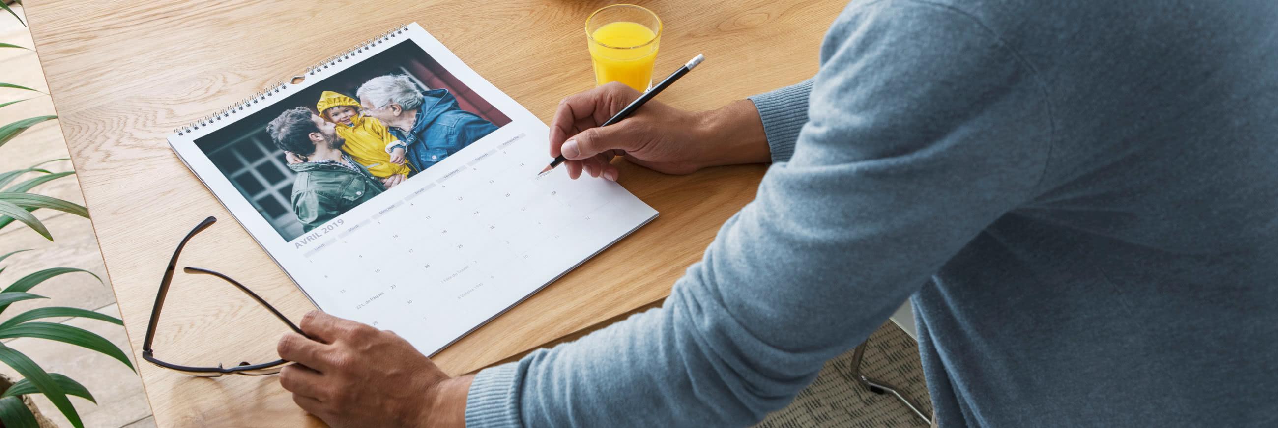 calendrier photo et agenda personnalisé 2018-2019 | photobox