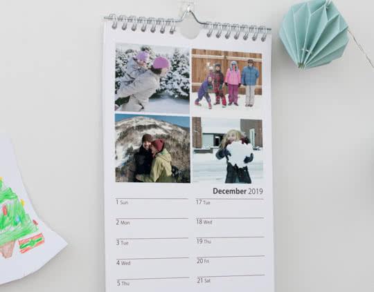 Slim Photo Calendar 2021 Personalised Calendars Photobox