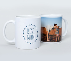 Personalised Mugs on a white background